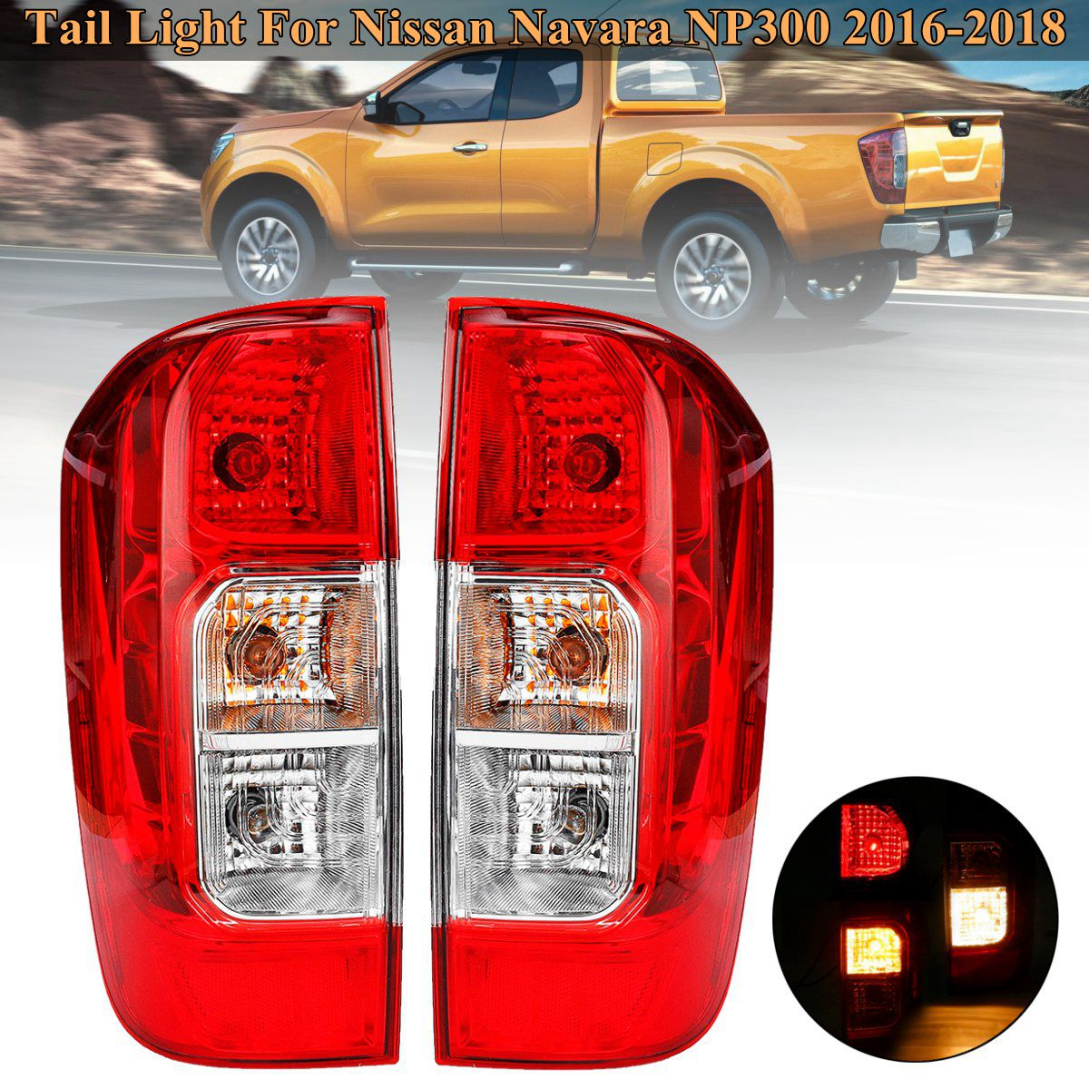 1Pcs Rear Tail Light Turn Light LEFT/RIGHT Driver Passenger Side For For Nissan Navara NP300 2016 2017 2018 Car Styling 1pcs 6ru 945 096 rh tail light taillamp rear light assembly right side for volkswagen polo sedan vento 2010 2014