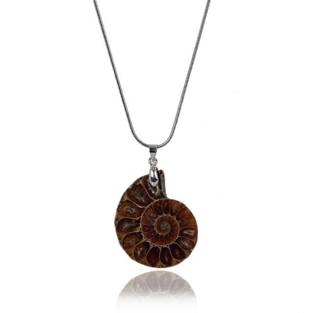 Ammonite fossil stone inlay pendant necklaces pendulum snake chain ammonite fossil stone inlay pendant necklaces pendulum snake chain healing chakra reiki fashion jewelry free shipping mozeypictures Images