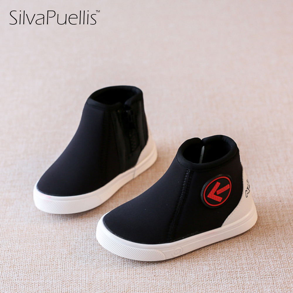 SilvaPuellis Children's Boots 2017 Autumn And Winter Children's Boots Casual Shoes 1-3 Years Old Soft Children's School Shoes