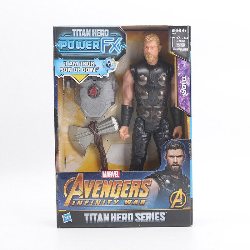 30 см электронный Marvel Мстители Бесконечная война Титан герой Мощность FX Тор игрушка фигурка игрушка кукла робот рисунок комплект блок