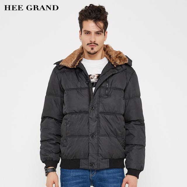 Hee grand parkas inverno dos homens casaco jaqueta casual cor sólida grosso quente windbreak outwear mwm001