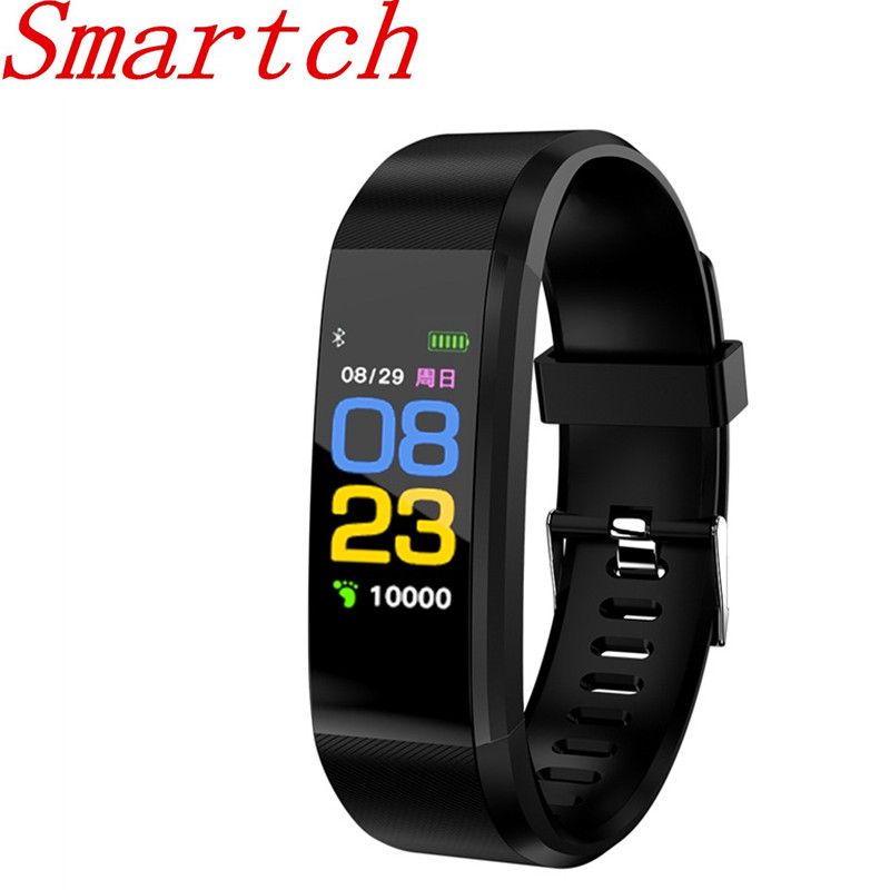 Smartch 6SKHR Plus Smart band Bracelet Heart Rate Monitor Pedometer Fitness tracker Wristband