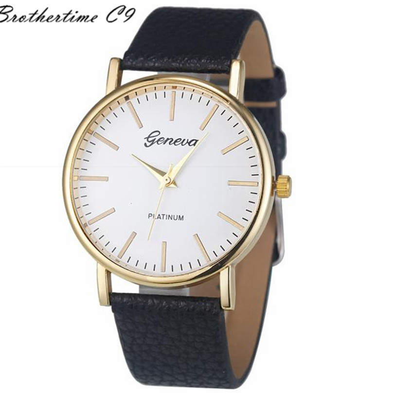 2016 NEW Fashion Brand 6 Colors Simple Leisure font b Women b font Ladies Analog Leather