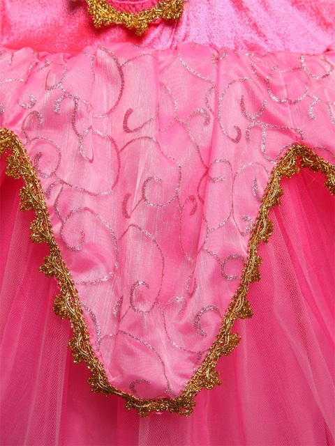 Princess Christmas Aurora Girl Dress Kids Cosplay Dress Halloween Costumes For Kids Girls Tulle Party Dress 4-10 Years Birthday