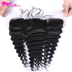 Dreaming queen hair pre plucked deep wave lace frontal closure 13x4 peruvian remy human hair frontal.jpg 250x250