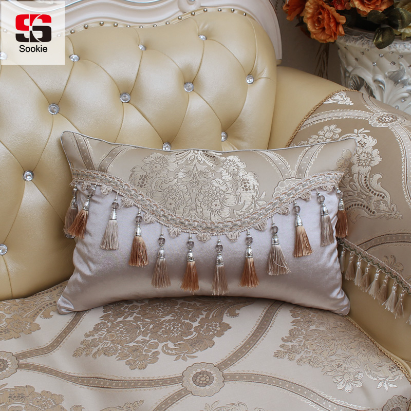 Hearty Classic Europe Cushion Covers Rectangle Floral Throw Pillow Case Elegant Decorative Sofa Car Cushion Case Home Textile Cushion Cover