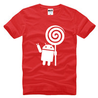 Android Robot Funny Men S T Shirt T Shirt For Men 2016 New Short Sleeve O