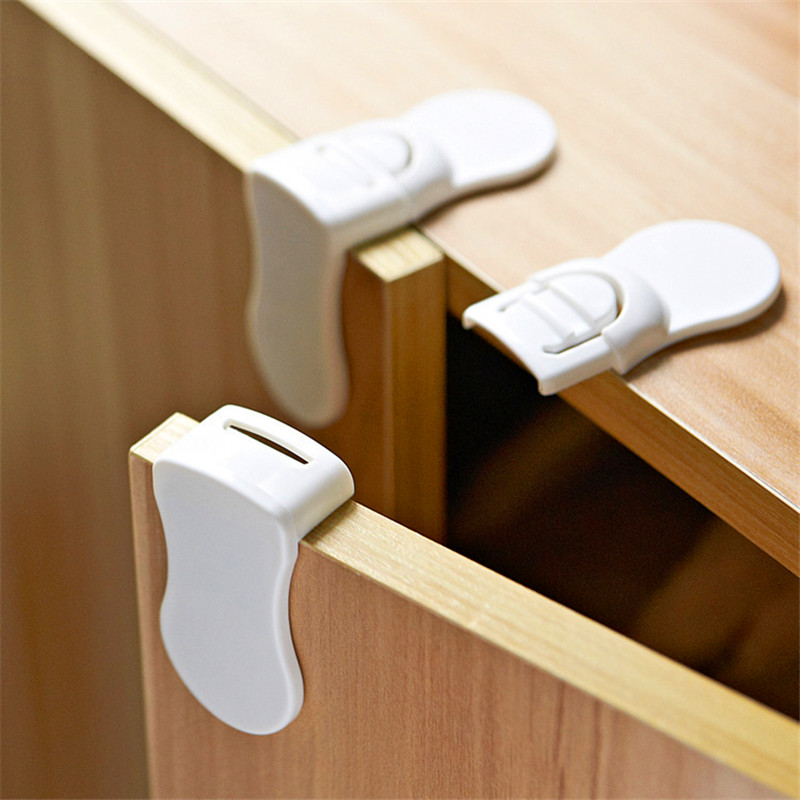 10pcs Baby Care Safety Security Cabinet Locks Child Kids Locks Wardrobe Portable Baby Foldable Folding Drawers Wardrobe
