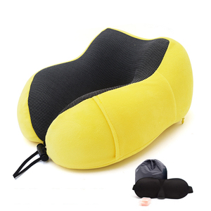 Image 3 - 1PC U Shaped Memory Foam Neck Pillows Soft Slow Rebound Space Travel Pillow Solid Neck Cervical Healthcare Bedding Drop Shipping