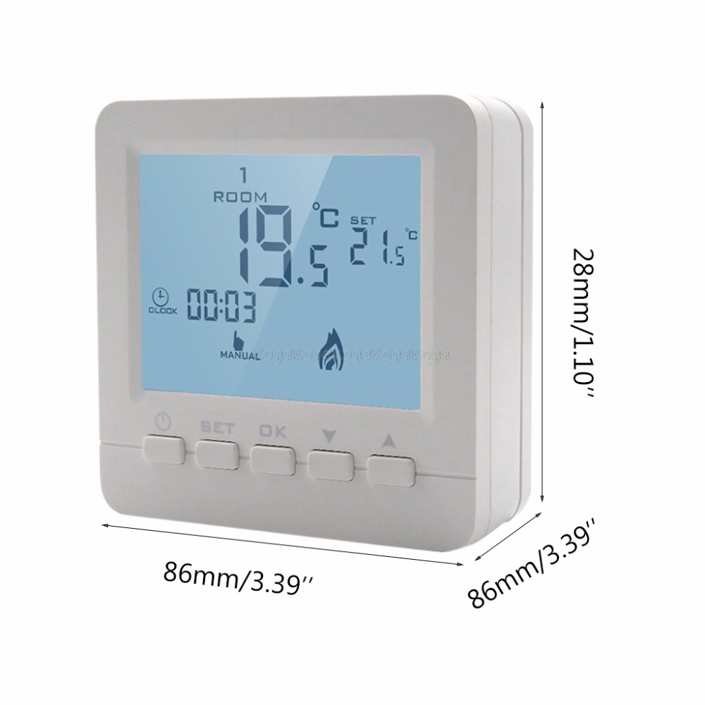 BGL02-5 LCD Thermoregulator Gas Boiler Heating Smart Temperature Controller Programmable Thermostat For Kombi Boiler N26