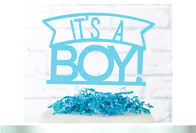 Kids Happy Birthday Cupcake Cake Toppers Cakes Flags Its A Girl & Boy  Baby Shower Birthday Festival Party Baking Decor-3