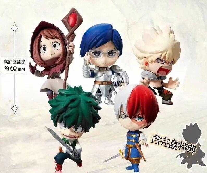 6 pçs/set Meu Herói Academia Midoriya Izuku Bakugou Katsuki Bok Todoroki Shoto Anime Action Figure PVC brinquedos Coleção figuras