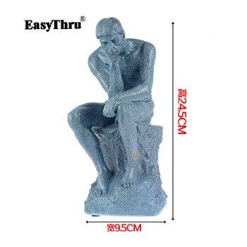 Full resin Thinker sculpture effigy meditator Works art human body model Medical teaching Human body цена 2017