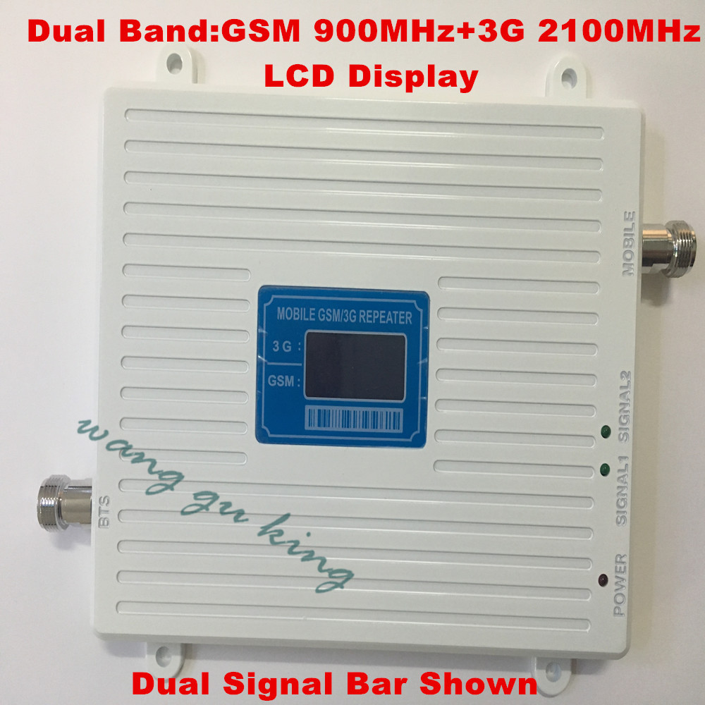 Best Price ! 2017 LCD Display GSM 3G Repeater Mobile Signal Booster GSM 900mhz 3G 2100mhz Cell Phone Signal Repeater Amplifier