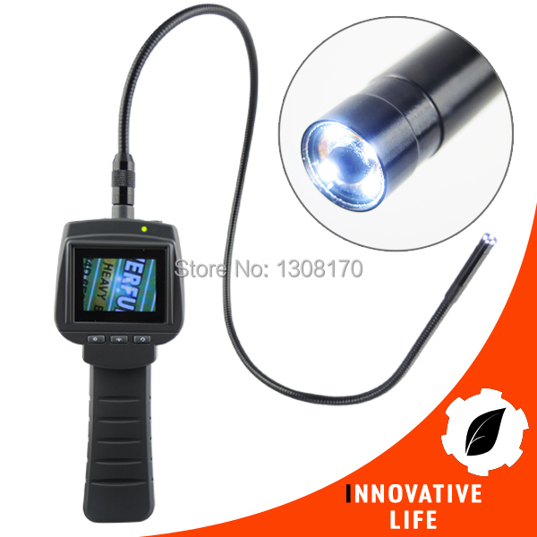 2.4 TFT LCD HD Industrial Endoscope 9mm Camera Borescope Inspection 4 LED Snake Tube Pipe 1M Cable supereyes 3 5 monitor waterproof borescope videoscope 9mm diameter 800mm snake tube endoscope camera with led inspection n012j