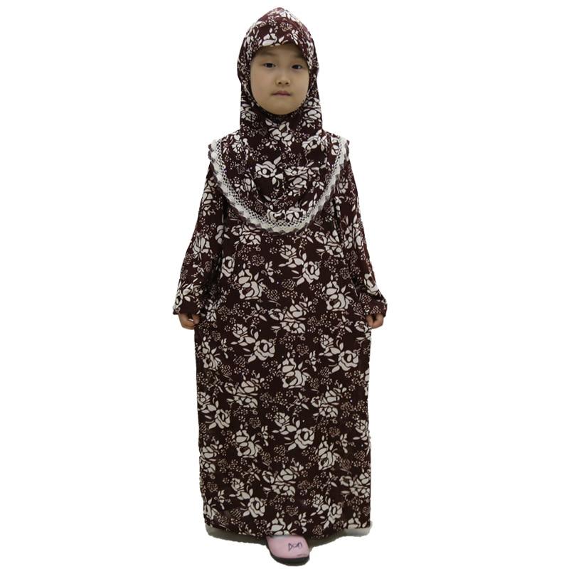 12 pieces lot Wholesale Latest Designs Muslim print Girls Abaya kids Kaftan Dress islamic girl