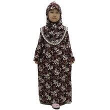 12 шт./лот) новейший дизайн принт в мусульманском стиле Абая для девочек Дети кафтан платье мусульманская одежда для девочек YM019a
