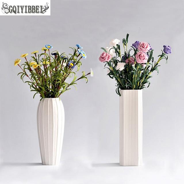 GQIYIBBEI European Fashion Ceramic Flower Vase,Porcelain Vases Decoratives,Vaso For Home Decoration Modern,Tabletop Vase