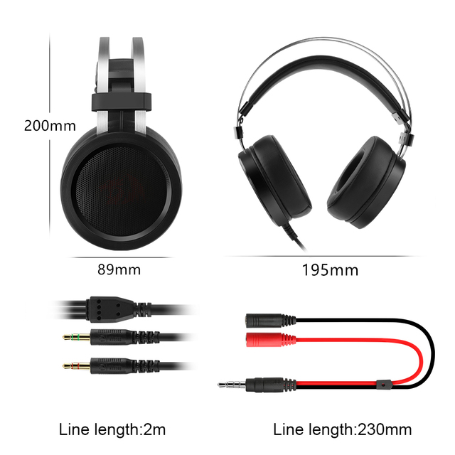 Redragon SCYLLA H901 Gaming Headphones Gamer Surround Pro Wired Computer Stereo headset Earphones With Microphone For PC PS4 5
