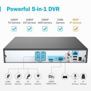 Image 2 - ANNKE 1080P 4CH CCTV ev kamerası sistemi 5in1 1080N H.264 + DVR 2X 4X TVI akıllı IR Bullet hava güvenlik gözetim kiti