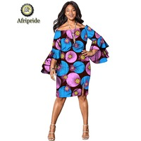 2019 african print dresses for women dress african clothing clothes ankara fabric wax dress dashiki plus size AFRIPRIDE S1925075