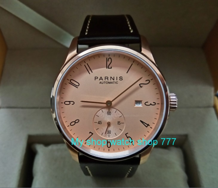40mm PARNIS Rose gold dial Automatic Self-Wind Mechanical movement men's watch Auto Date Rose gold case zdgd119 arti m фигурка joey 8 см