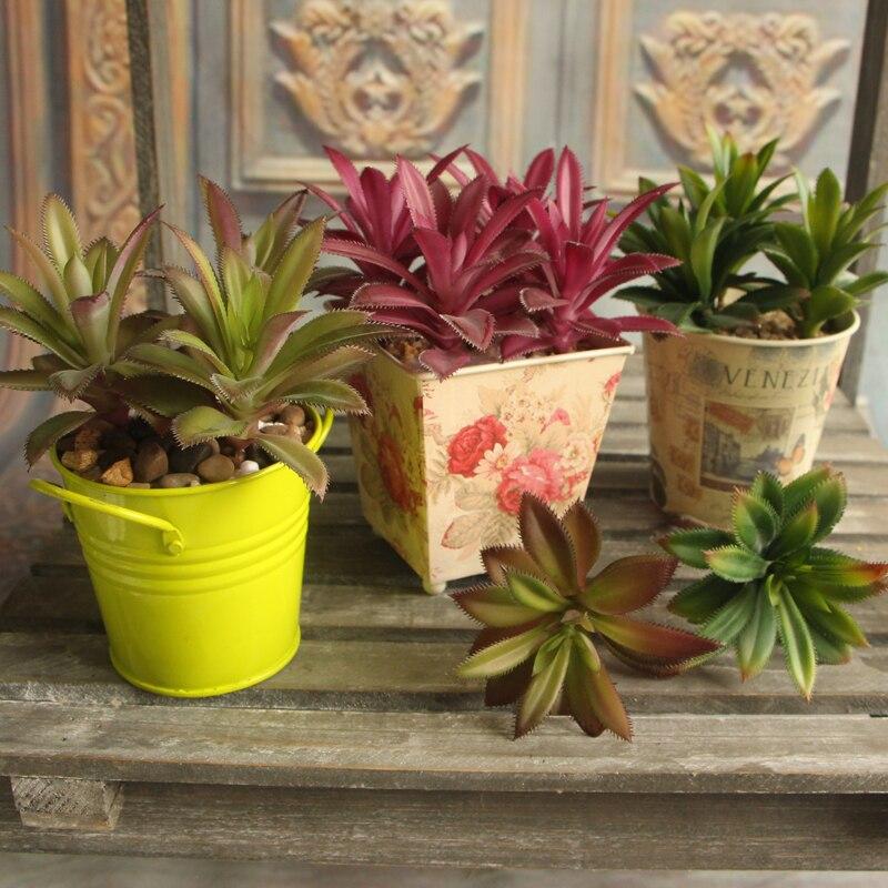 Artificial Plant Grass Leaf Desert Rare Garden Succulent Landscape Fake Flower Home Decor Hot Sale 3 Color 3D