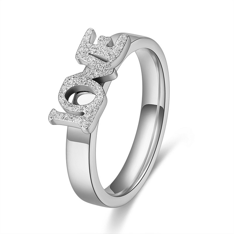 QianBei Trendy Jewelry Silver Plated Finger Ring Women Stainless Steel Zircon Rings Men Wedding Engagement Gift Size 7-10