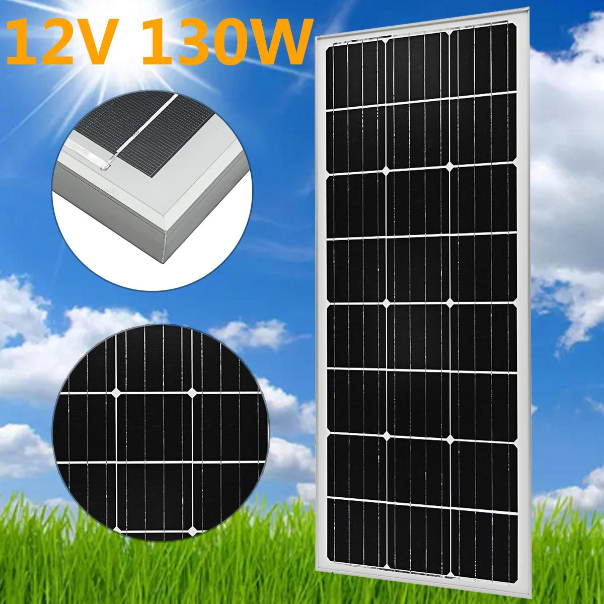 LEORY 18V 130W High Conversion Efficiency Monocrystalline Silicon Solar Panel With Glass Bearing Plate 35w 18v polycrystalline solar panel module with special technology high efficiency long lifecycle fend against snowstorm