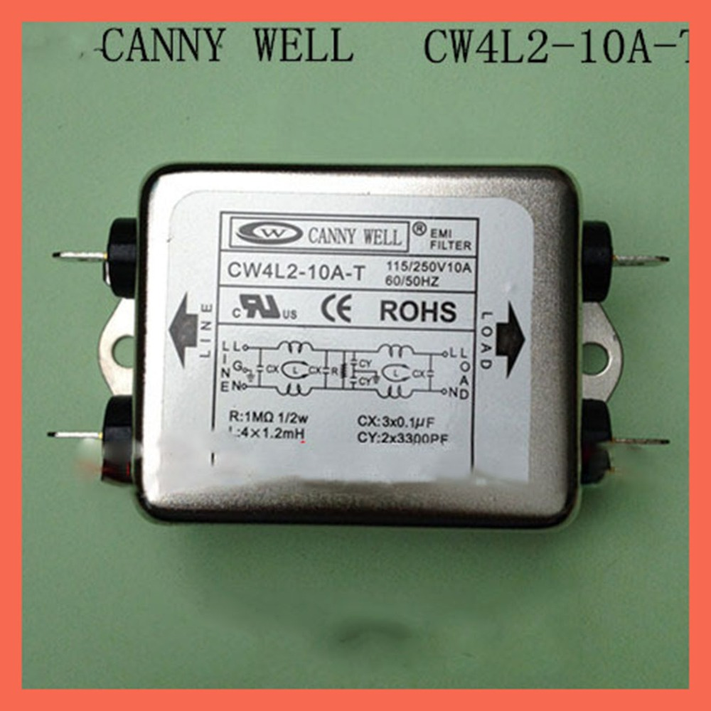 Ac 110 250v bipolar 10A power supply filter CW4L2 10A T,EMI Filter Components Electrical Equipment Supplies Power Adapters