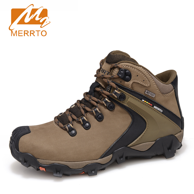 MERRTO Waterproof Hiking Shoes For Men Sneakers Men Hiking Waterproof Boots Trekking Outdoor Shoes Full-grain Leather Boots Man ботильоны milana milana mi840awveu57 page 7