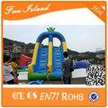 Dupla de slides seco inflável, Peças lâmina de água inflável, Inflável Slide piscina para adultos e crianças