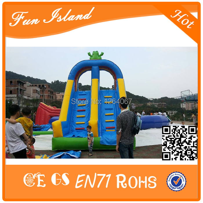 Hot Double Way Inflatable dry Slide,Inflatable Water Slide Parts, Inflatable Pool Slide For Adult And Kids jungle commercial inflatable slide with water pool for adults and kids