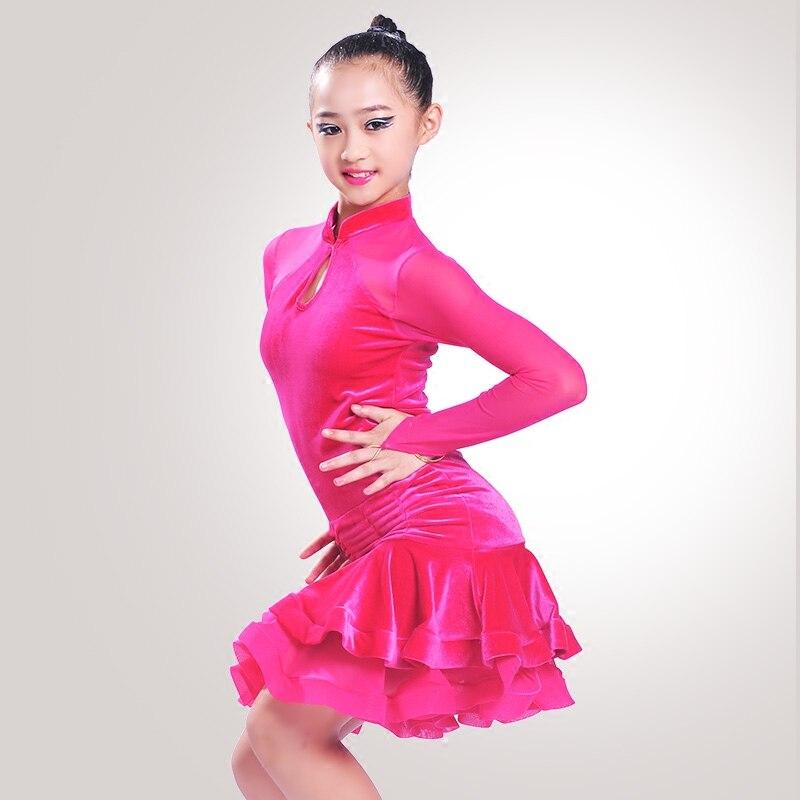 Fashion Latin Dance Dresses Suits Women/Girls Sexy Fringes long Skirt Ballroom/Tango/Rumba/Latin Dresses Clothings For Dancer