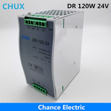 120w 24v Switching Power Supply Din Rail type Single Output DR120W-24V 5A Power Supplies for Led Strip