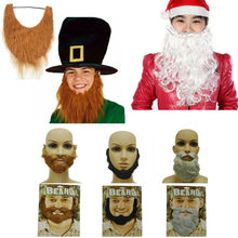 Fake Beard Adults White Facial Hair Beard And Mustache Cosplay Costume Fortnight Fancy Party Fake Mustache Moustache Halloween(China)