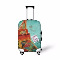 WHOSEPET Eiffel Tower Travel Dustproof Luggage Cover for 18-30 inch Elastic Stretch Protect Suitcase Covers Fashion Case Covers