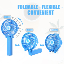 Portable USB Rechargeable Mini Fan Ventilation Air Conditioning Fans Foldable Cooler Hand Held Fan for Outdoor Home