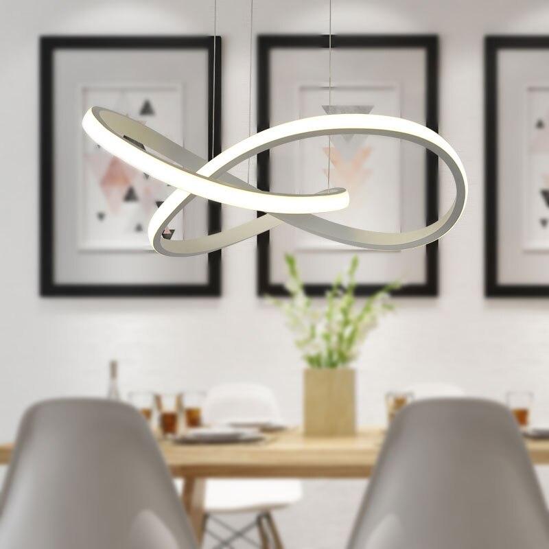 Акриловый светодиодный белый подвесной светильник креативный стиль бар подвесной светильник Декор современный подвесной светильник для г... - 2
