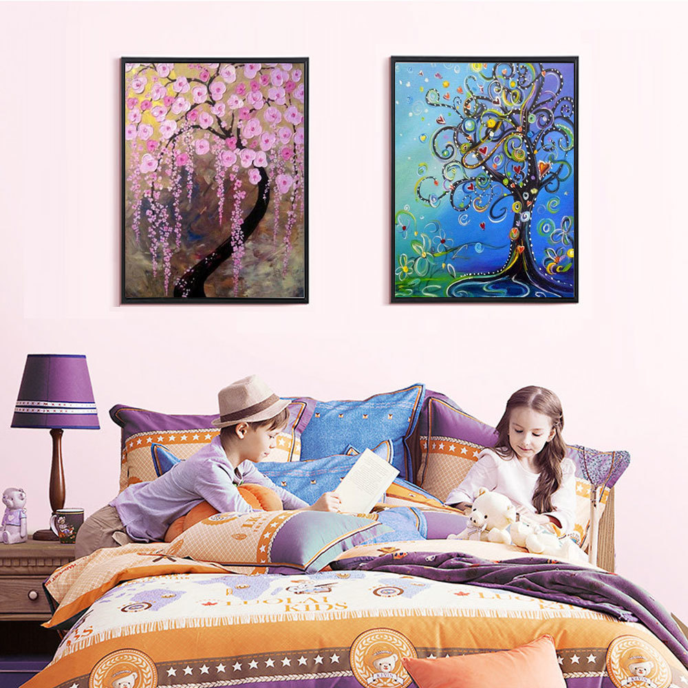 Diamond Embroidery Landscape DIY Diamond Painting Flowers Cross Stitch Full Square Drill Decor Home Picture Of Rhinestone in Diamond Painting Cross Stitch from Home Garden