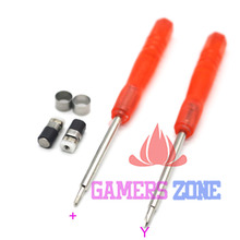Replacement Barrel Hinge Shaft Axis Axle Pin Part Set for Nintendo 3DS W/ Cross and Tri Wing Screwdriver