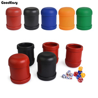 KTV Bar Plastic Colorful Gambling Casino Carving Patterns Plastic Dice Cup With 6pcs 13 White Dice