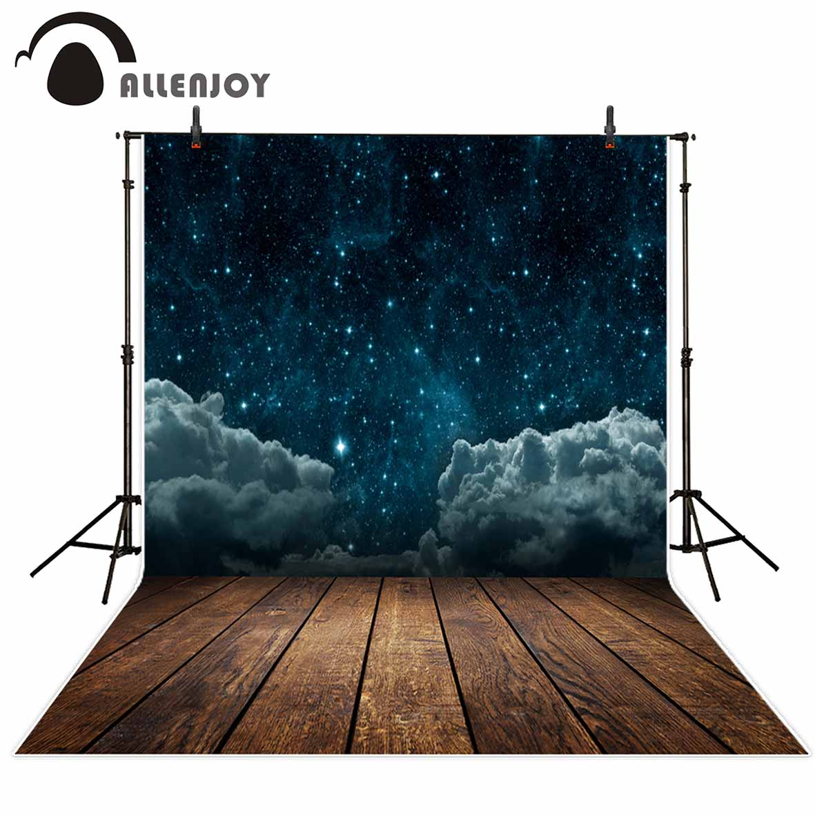 Allenjoy photographic background Night sky clouds stars universe children imagination fantasy backdrop photograph props