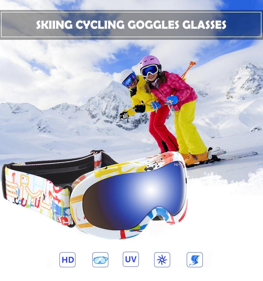 Children Skiing Glasses Ski Goggles Cycling Climbing Anti fog Glasses Cycling Snow font b Snowboard b