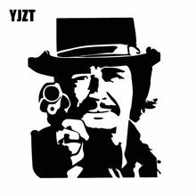 YJZT 13CM*15.6CM Delicate Charles Bronson Classic Actor Dazzling Vinly Decal Magnificent Car Sticker Black/Silver C27-0369(China)