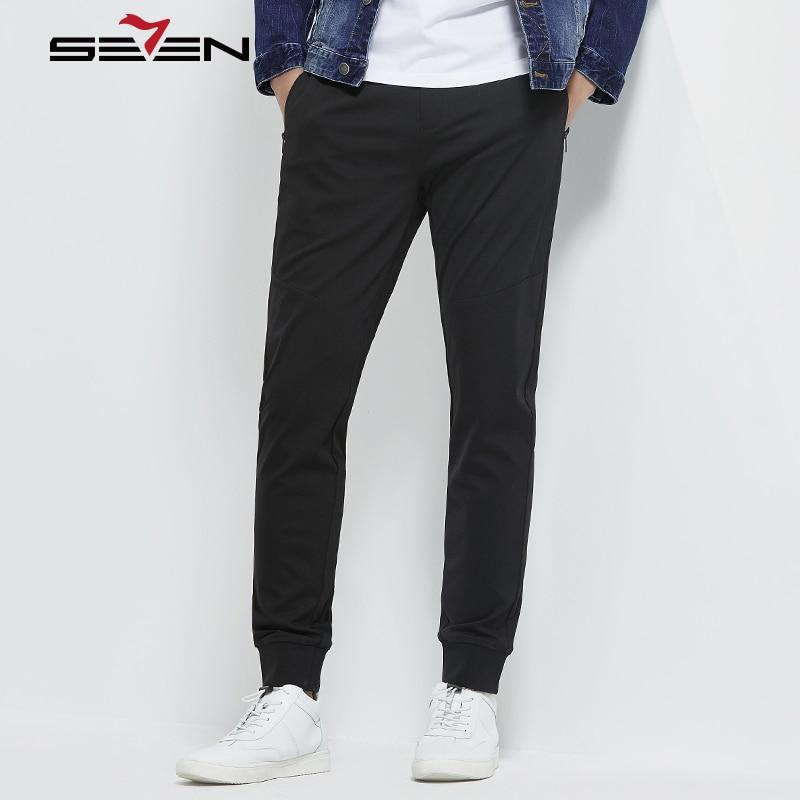 Seven7 Brand Harem Pants Men Plus Size Casual Male Trousers Black Drawstring Sweatpants Jogger Tracksuit Sweat Pants 114S88080
