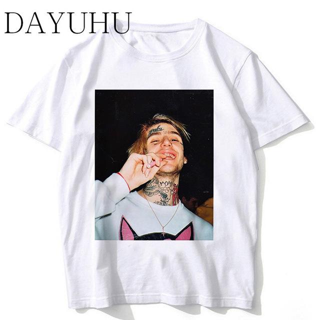 2018 New Rapper Lil Peep T Shirt Rap Hiphop LilPeep Men Cool T-shirt Graphic Print Tee Hip Hop Tops