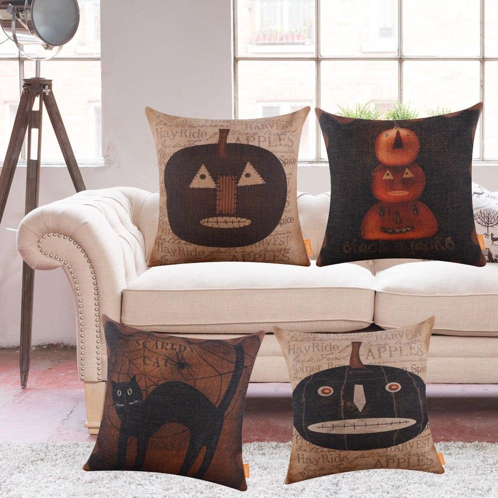 Canapé En Toile De Jute toile de jute housse de coussin décoration saisonnière
