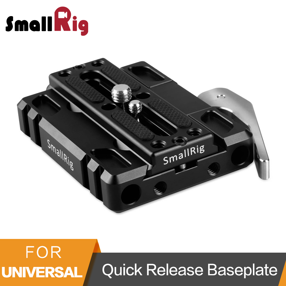 SmallRig ARCA Swiss Style Quick Release Baseplate Pack Dovetail Baseplate (With ARCA Plate) +1/4 Screws Accessories Kit-1817