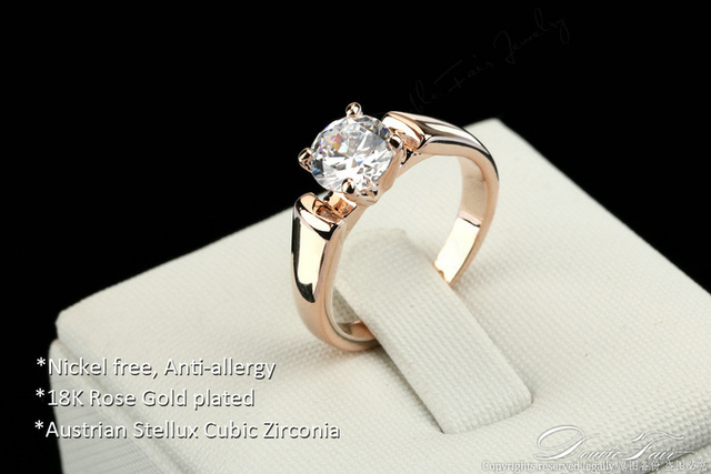 Double Fair 1.25 Carat Round Cut Cubic Zircon Engagement Rings Silver/Rose Gold Color Wedding Jewelry For Men/Women Anel DFR054 4